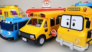 Wheels On The Bus Nursery Rhymes playing BUS Tayo  toys