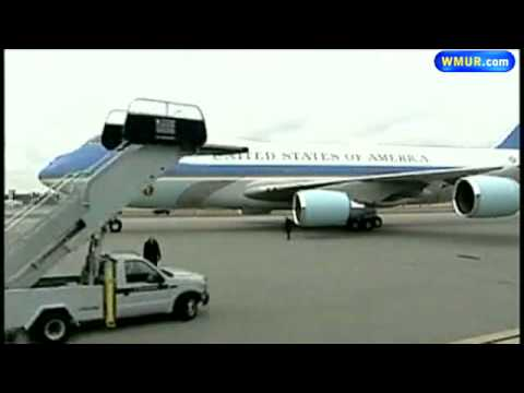 Air Force One Lands In Manchester