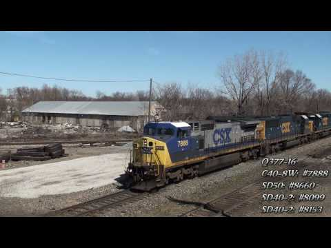 Marion, Ohio Railfanning. Part Two (HD) Video