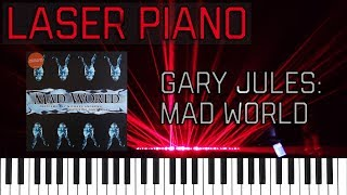 Gary Jules - Mad World - Played In Lasers (MIDI Laser Piano)