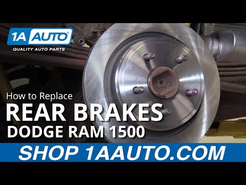 How to Install Replace Rear Brake Pads and Rotors 2002-10 Dodge Ram 1500 BUY PARTS AT 1AAUTO.COM