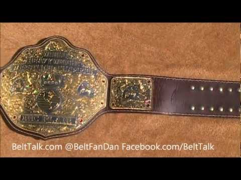 Real NWA WWE Ric Flair Style Big Gold World Heavyweight Championship Wrestling Title Belt