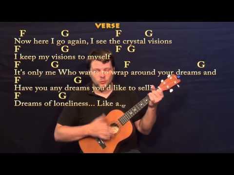 Dreams (FLEETWOOD MAC) Easy Strum Guitar Lesson - Fmaj7 - G - Am ...