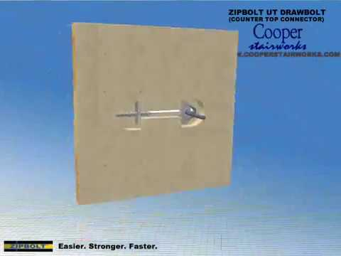 Countertop Joining Bolts : Zip Bolt Counter Top Joint Fastener - YouTube