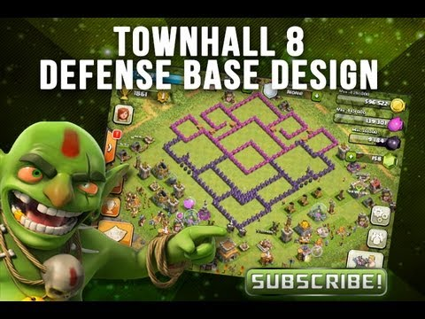 Clash of clans whirl pool base design townhall 8 defense base