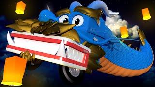 XE TẢI RỒNG! - Siêu xe tải Carl 🚚⍟ những bộ phim hoạt hình về xe tải l Vietnamese Cartoons for Kids
