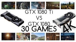 GTX 1080 TI VS GTX 1080    BENCHMARK IN 30 GAMES 4k RESOLUTION