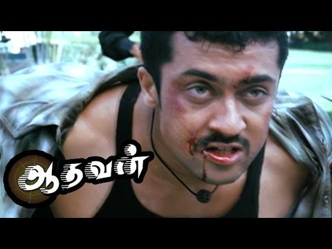 Aadhavan  Aadhavan Tamil Movie Scenes  Riyaz Khan hits Suriya  Fefsi Vijayan reveals the Truth