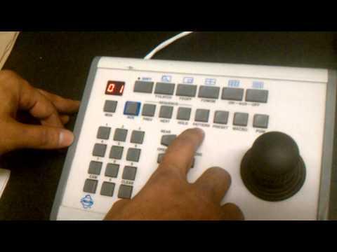 Pelco keyboard control