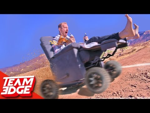 High Speed OFF-ROAD Electric Recliner Race!!