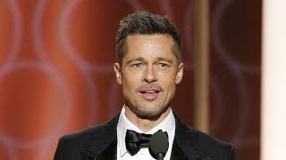 Brad Pitt Makes Surprise Appearance at Golden Globes Gets Standing Ovation