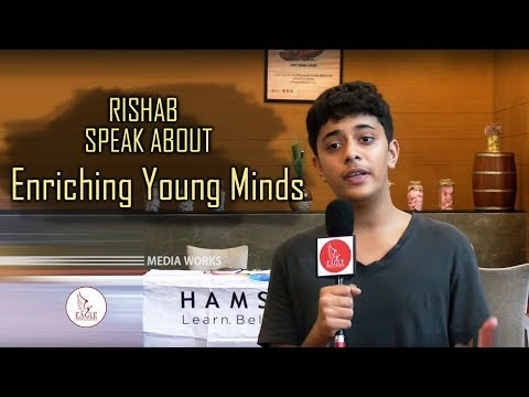 Rishab a 9th Grade Student Speaks About Enriching Young Minds | Eagle Media Works