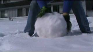 Making a snowman the old way