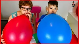 Learn Colors with Balloons Finger Family Song and Phonics ABC Song Nursery Rhymes for Children