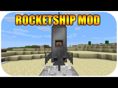 ★Minecraft Xbox 360 Edition - Cool NEW Rocket Ship Mod With Download★