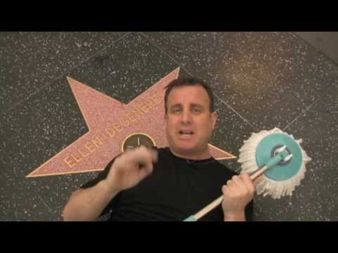 Hurricane Spin Mop Cleans Ellen's Star On Walk Of Fame!
