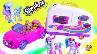 Rainbow Beach Camper + Unicorns ! Happy Places Shopkins Shoppies Summer Toys
