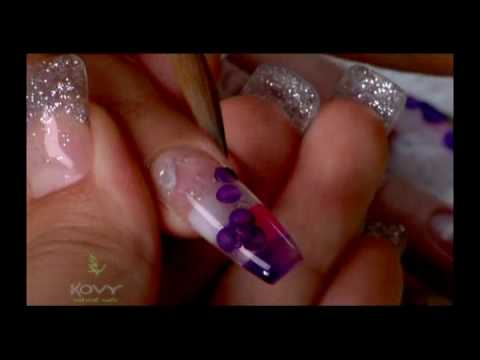 Video uñas decoradas Violet Garden by kovy