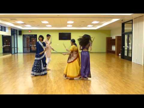 Garba Dance w Sticks Kusum Modi & Family at Folk Dance Club...