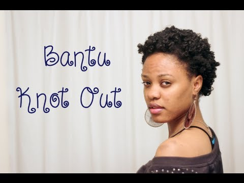 124 Natural Hair Bantu Knots On 4c Hair Youtube