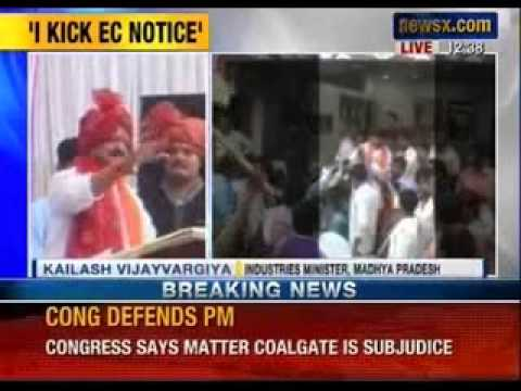 MP minister Kailash Vijayvargiya caught on camera while distributing cash- NewsX