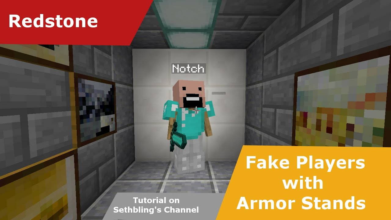 how to make fake players in minecraft