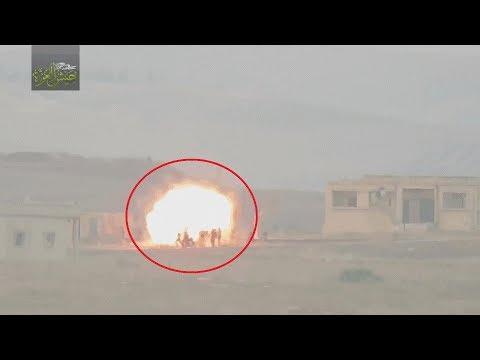 18+ Выстрел по Сирийским солдатам | ПТУР ТОУ | Сирия 2018