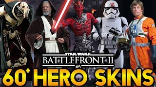 OVER 60 POTENTIAL HERO SKINS! Star Wars Battlefront 2