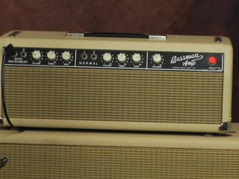 Vintage Fender Bassman guitar amp review Marshall Traynor Video