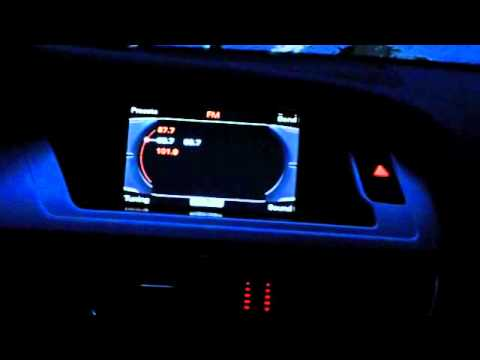 Audi Mmi Led Light Colour Change To Match Screen Youtube