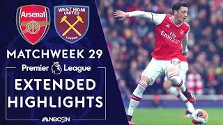 Arsenal v. West Ham | PREMIER LEAGUE HIGHLIGHTS | 3/7/2020 | NBC Sports