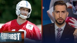 Andrew Luck's injury becoming a concern for Colts? Nick & Cris discuss | NFL | FIRST THINGS FIRST