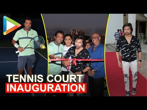 Leander Paes, Himesh Reshammiya & others at Kunal Thakur's new Lawn-Tennis court inauguration