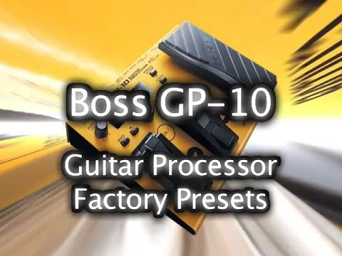 Roland Boss GP-10 Guitar Processor - Synthesizer 100 Factory Patches - Виде