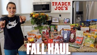 TRADER JOES EPIC FALL HAUL | SEASONAL FAVORITES AT TRADER JOES | FALL GROCERY HAUL