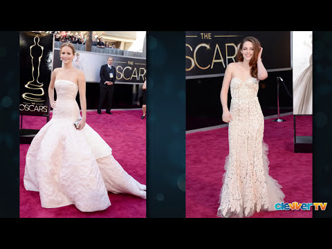 Jennifer Lawrence & Kristen Stewart Oscar 2013 Red Carpet Style