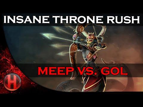 Insane Throne Rush by GOL vs MEEP Dota 2