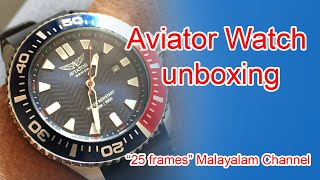 Unboxing Aviator Special Ops Professional Diver Watch