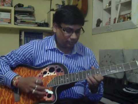 Mere Samnewali Khidki mein on Guitar