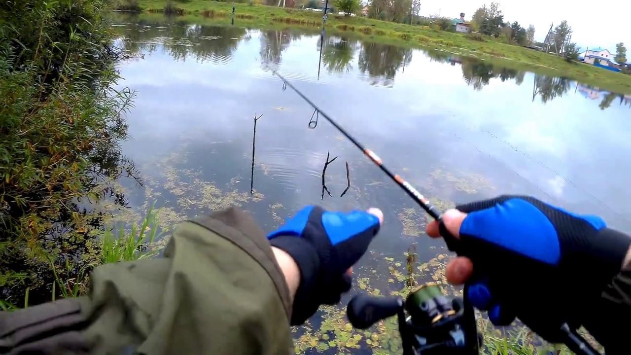 Рыбалка видео спиннингом весной с берега