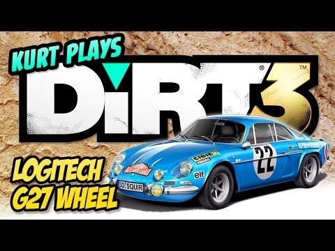 Kurt Plays DiRT 3 with Logitech G27 Racing Wheel
