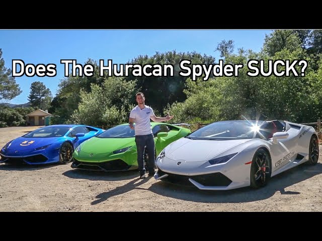 Huracan vs Huracan Spyder Head to Head!! (Does it SUCK?)