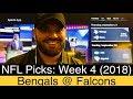Bengals Vs Falcons 2018 Week 4 NFL Picks Predictions Cincinnati At Atlanta Football mp3