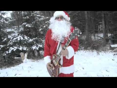 CHRISTMAS   ROCK N ROLL FUNNY CHRISTMAS VIDEO Santa's Gotta Brand New Ride