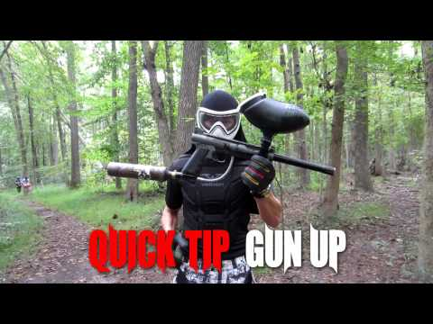 Quick Paintball Tip - Gun Up!