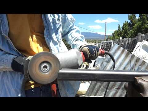 FJ40 swing out tire/ gas can carrier project. Part 2