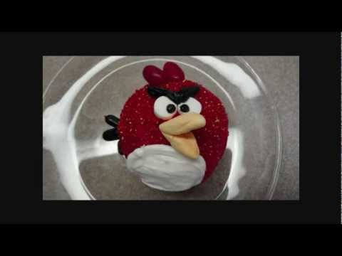 Decorating Cupcakes : Angry Bird