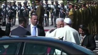 (Pope Francis) Lands in Bethlehem, Holds Sunday Mass  5/25/14