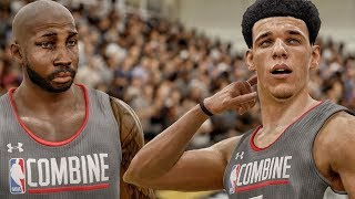 LONZO BALL DANCING IN THE DRAFT COMBINE! NBA Live 18 The One Career Gameplay