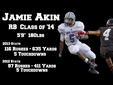 Jamie Akin Football Highlights, Ben Davis High School